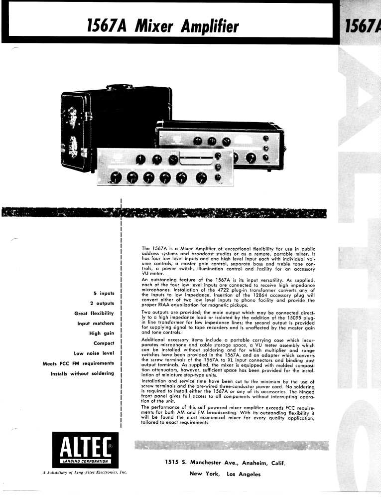 pro audio equipment altec 1570b 170w commercial power amplifier schematic ampex aa 620 speaker amplifier schematic