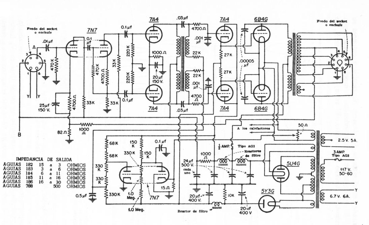 Triode Electronics On Line Schematics Index Push Pull Amplifier Schematic 12a 22a 10c3